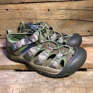 Keen Newport H2 Waterproof Youth Camo Sandals